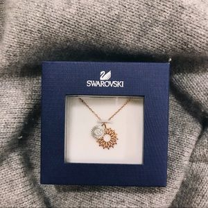 Swarovski Gold and Silver Charm Pendant Necklace